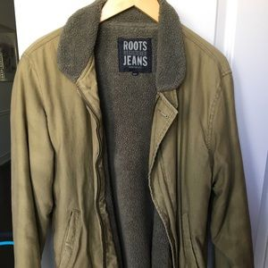 Roots Army Green Coat